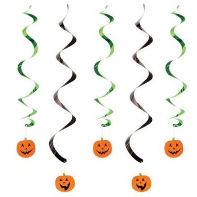 Pendente con Zucche Halloween - 5 pz