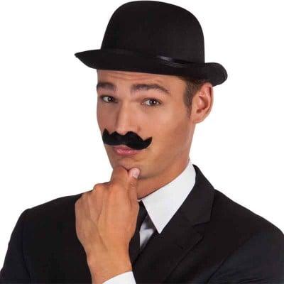 Baffi uomo elegante