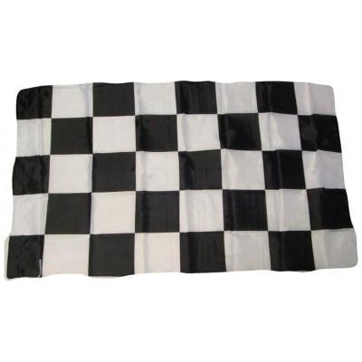 Bandiera Bianconera 150 x 90 a scacchi