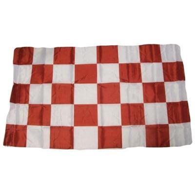 Bandiera Biancorossa 150 x 90 a scacchi