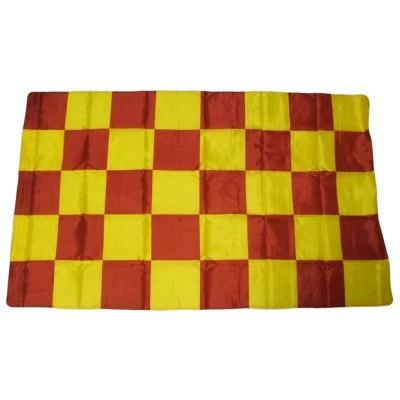 Bandiera Giallorossa 150 x 90 a scacchi