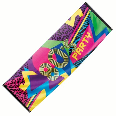 Banner disco Anni 80