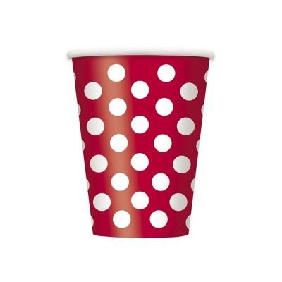 Bicchieri Pois Rosso - 6 pz