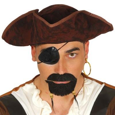 Benda occhio pirata in plastica