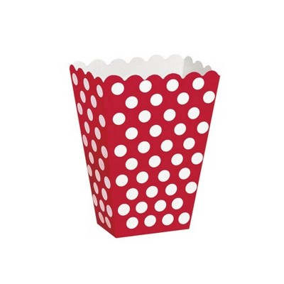 Box Caramelle/PopCorn Rosso Pois 8 pz