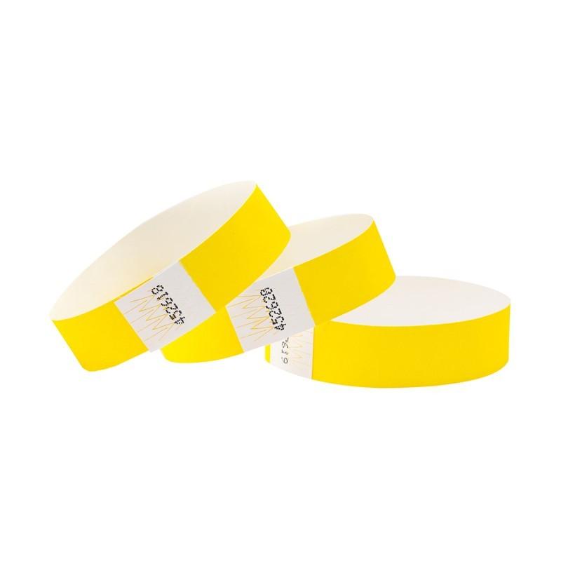 Braccialetti in Tyvek giallo - 1 pz