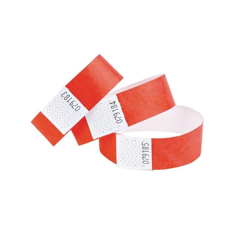 Braccialetti in Tyvek rosso - 1 pz
