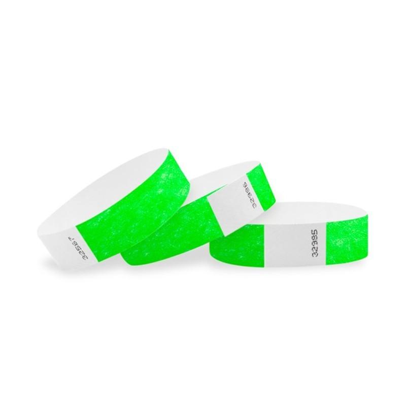Braccialetti in Tyvek verde - 1 pz