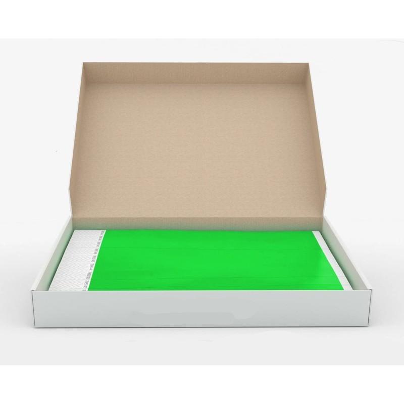 Braccialetti in Tyvek verde - 1000 pz