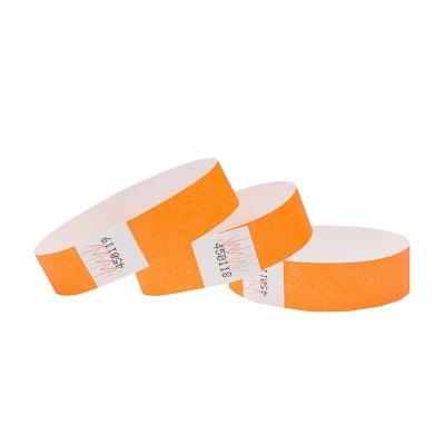 Braccialetti in Tyvek arancio - 1 pz