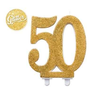 Candelina per torta 50 Oro