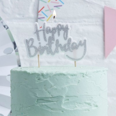 Candelina per Torta Happy Birthday