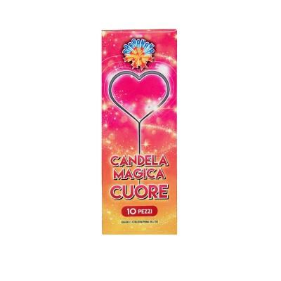 Candeline elettriche Cuore - 10 pz