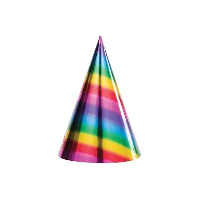 Cappellini cono Arcobaleno - 6 pz