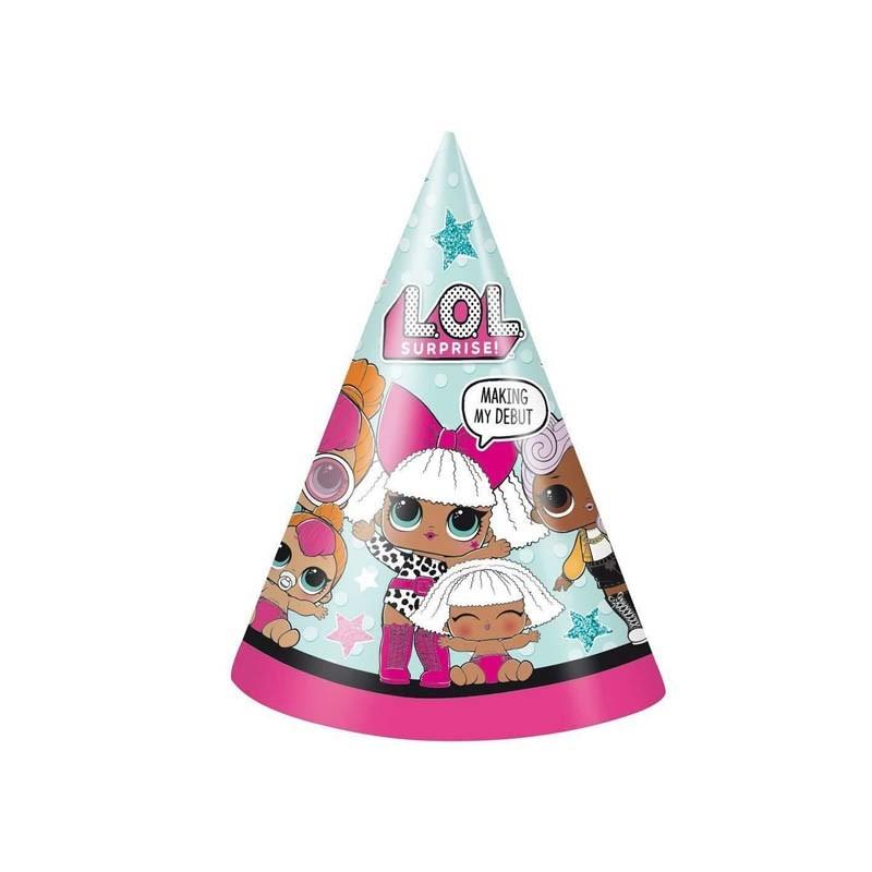 Cappellini cono LoL - 8 pz