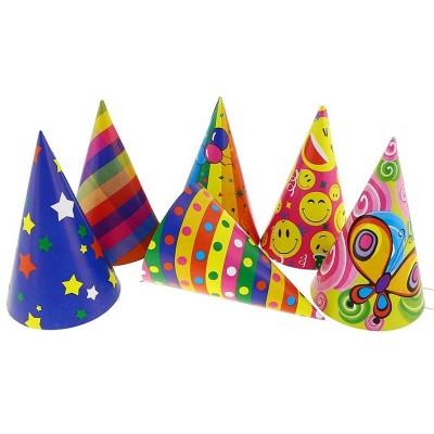 Cappellini cono da festa in cartone - pz 144