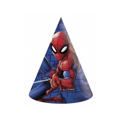 Cappellini cono Spiderman - 6 pz