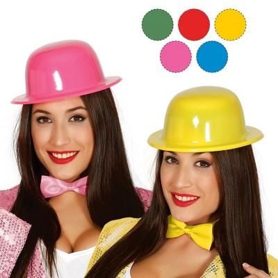 Cappello bombetta plastica neon