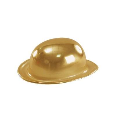 Cappello bombetta oro