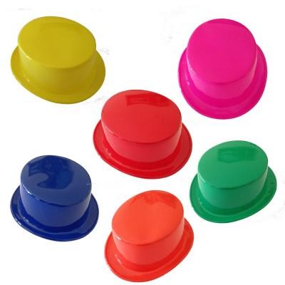 Cappello cilindro plastica colorati - 1 pz