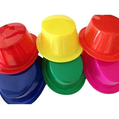 Cappello cilindro plastica colorati - 96 pz