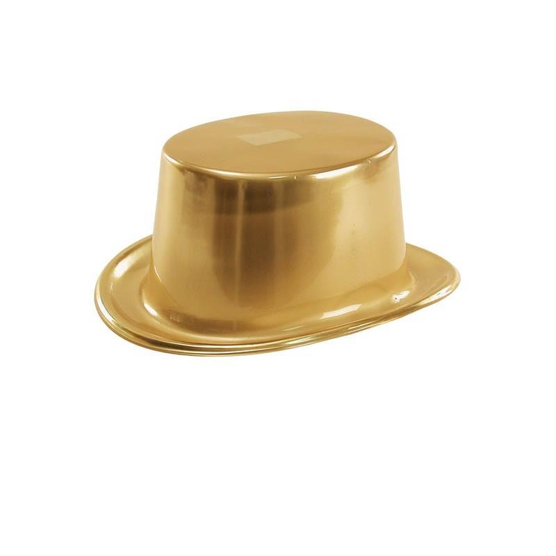 Cappello Cilindro Plastica Oro
