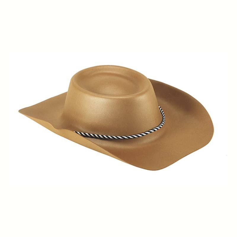 Cappello cowboy gomma eva marrone