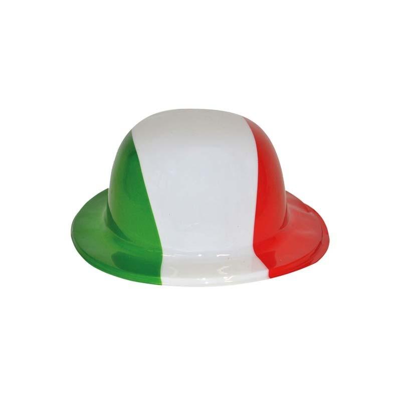 Cappello Italia Bombetta Plastica