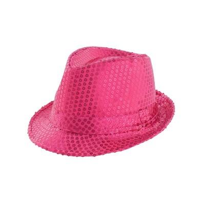 Cappello Paillettes Rosa