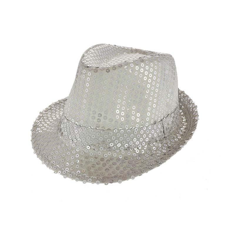 Cappello Paillettes Argento