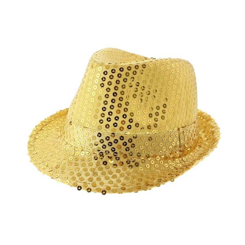 Cappello Paillettes Oro