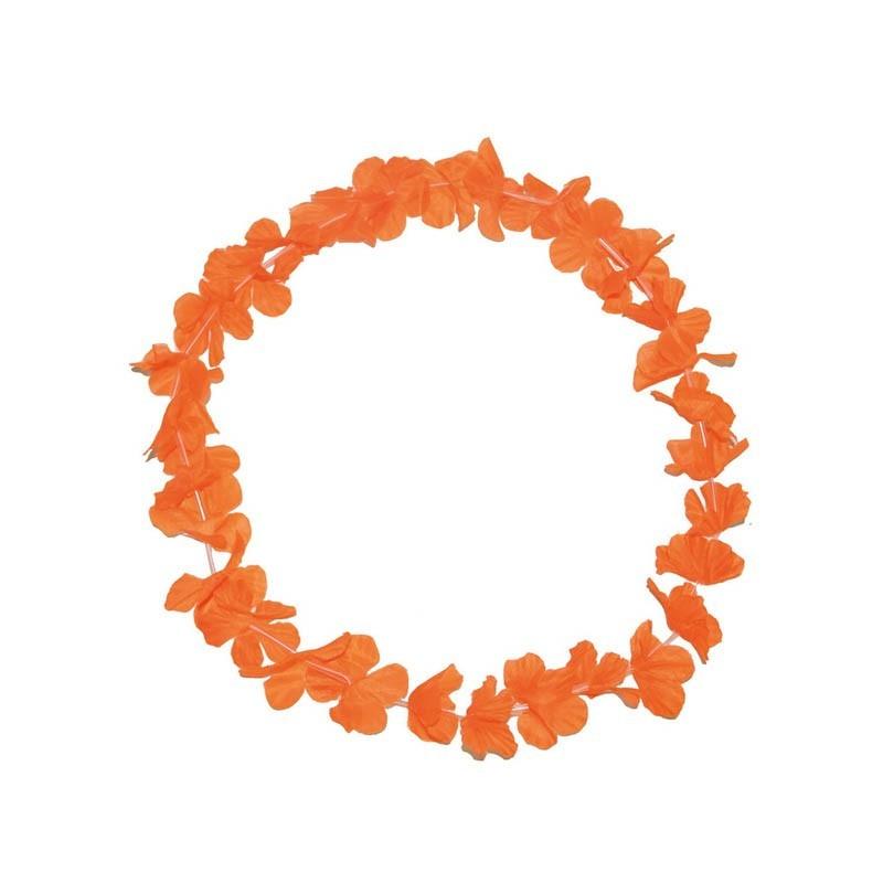 Collana hawaii arancione