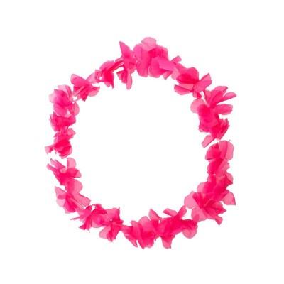 Collana hawaii rosa - 120 pezzi