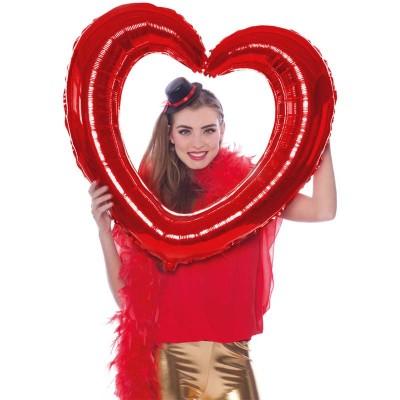 Cornice Foil Cuore Rosso