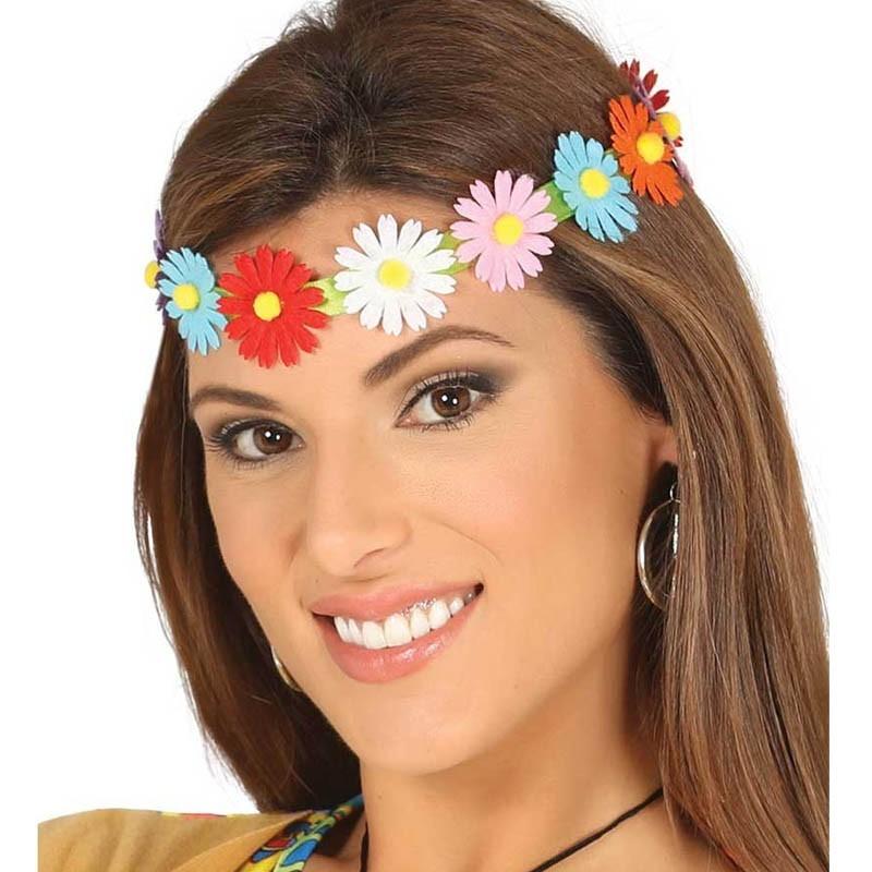 Fascia capelli fiori colorati