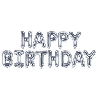 Festone Happy Birthday palloncini argento