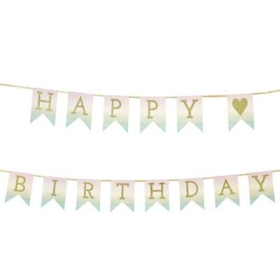 Festone Happy Birthday Sfumato