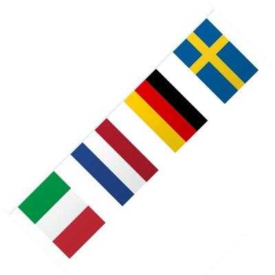 Festone PVC bandiere europee - mt 10