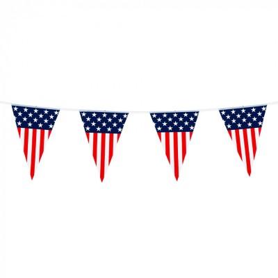 Festone PVC bandierine America - 5 mt