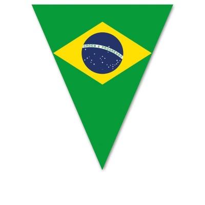 Festone PVC Bandierine Brasile - 5 mt