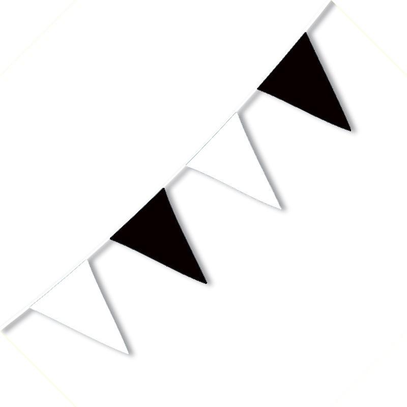 Festone PVC Bicolore Bianconero - 3,2 mt