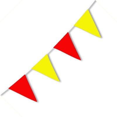 Festone PVC Bicolore Giallorossi - 3,2 mt