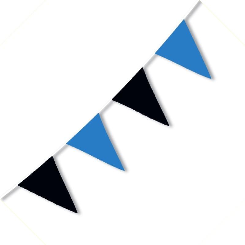 Festone PVC Bicolore Nerazzurri - 3,2 mt