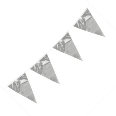 Festone PVC Monocolore Argento 10 mt