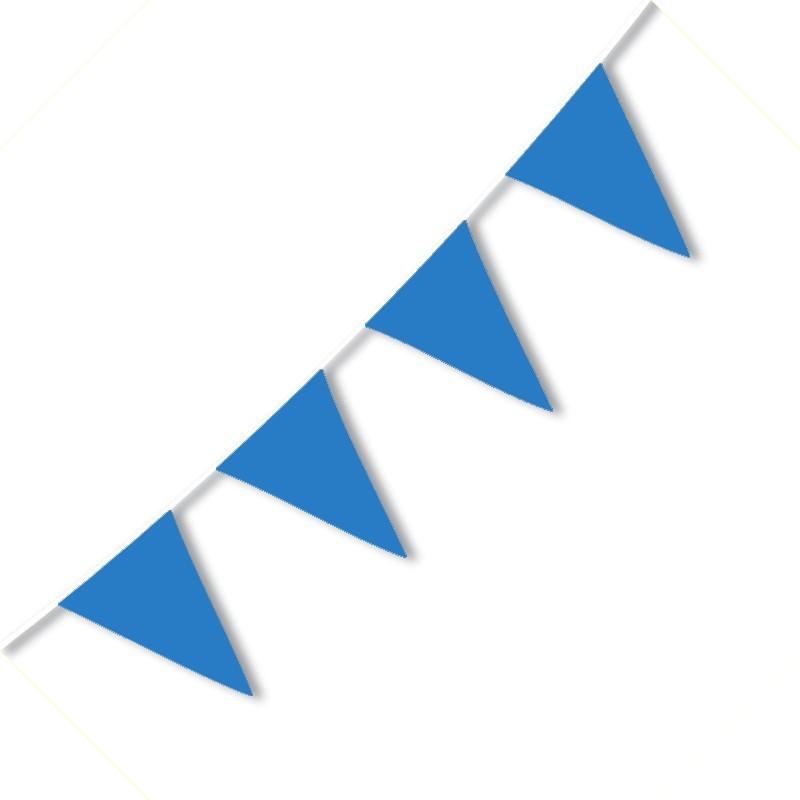 Festone PVC Monocolore Azzurro 10 mt