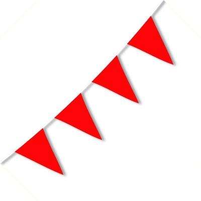 Festone PVC Monocolore Rosso 10 mt