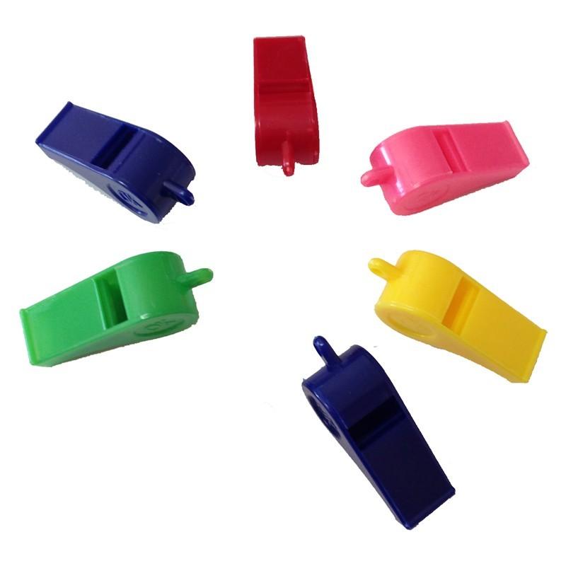 Fischietti in plastica senza laccio 1 pz