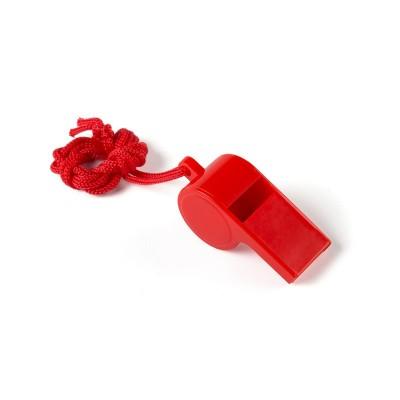 Fischietto in plastica rosso