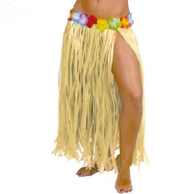 Gonna hawaiana adulto lunga con fiori