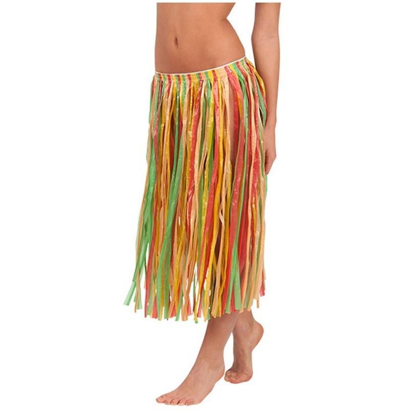 Gonna hawaiana lunga multicolor adulto